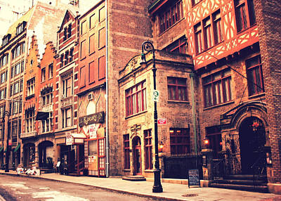 Back In Time - Stone Street Historic District - New York City Poster by Vivienne Gucwa