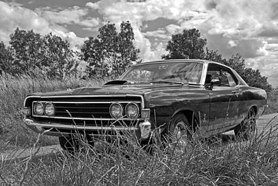 Back Road Find - Ford Torino Cobra Jet 1969 Poster