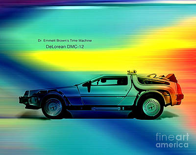 Back To The Future Poster by Marvin Blaine