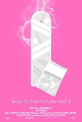 Back To The Future Part 2 Custom Poster Poster by Jeff Bell