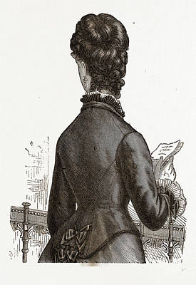 Back View, 19th Century  Fashion Poster