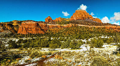 Backcountry Panorama Sedona Poster by Bob and Nadine Johnston