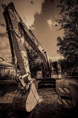 Backhoe-2 Poster by Rudy Umans