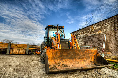 Backhoe Poster by Anthony Doudt