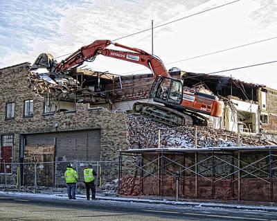 Backhoe Demolition Poster by Daniel Hagerman
