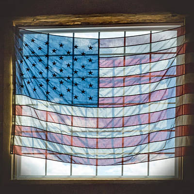 Backlit American Flag Poster by Photographic Arts And Design Studio