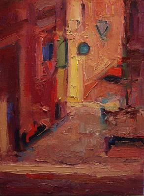 Backstreet In Sienna Poster by R W Goetting
