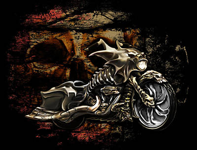 Bad Ass Bagger Poster by Michael Spano