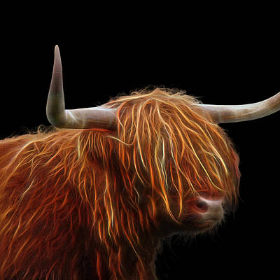 Bad Hair Day - Highland Cow Square Poster by Gill Billington