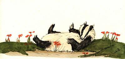 Badger Poster by Juan  Bosco