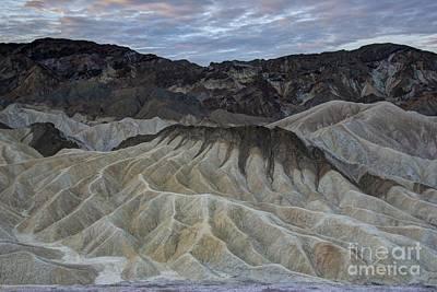 Badlands At Sunrise. Death Valley Poster