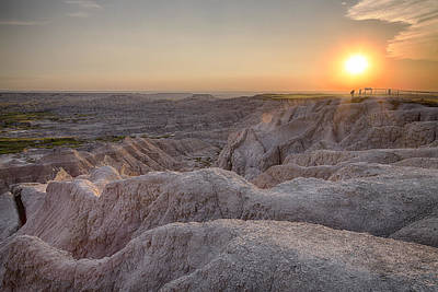 Badlands Overlook Sunset Poster