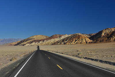Poster featuring the photograph Badwater Road - Death Valley by Dana Sohr