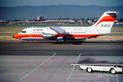 Bae 146-200 Psa Pacific Southwest Airlines N354ps Poster by Wernher Krutein