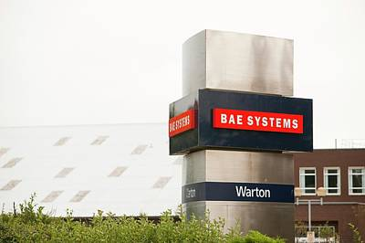 Bae Systems Plant At Warton Poster