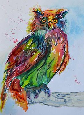 Baffled Owl Poster by Beverley Harper Tinsley