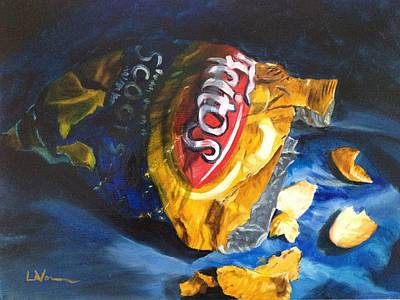Bag Of Chips Poster by LaVonne Hand