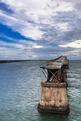 Bahia Honda Bridge By Day Poster by Dan Vidal