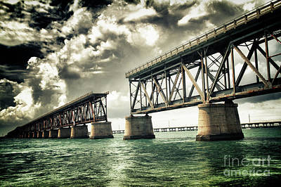 Bahia Honda Bridge Poster by Scott Bert