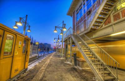 Bahnhof Berlin Warschauer Str Poster