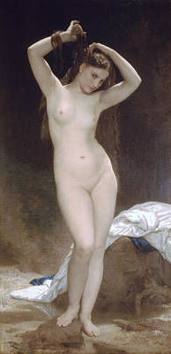 Baigneuse Bather Poster by William Bouuguereau