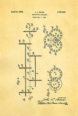 Baird Television Apparatus Patent Art 1929 Poster