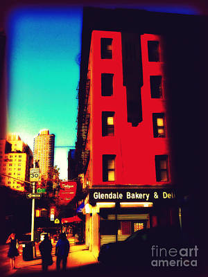 Poster featuring the photograph The Bakery - New York City Street Scene by Miriam Danar