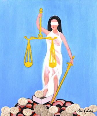 Balance And Money Poster by Lorna Maza