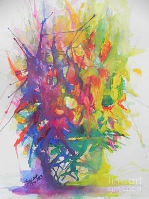 Balance Brings Happiness Poster by Chrisann Ellis