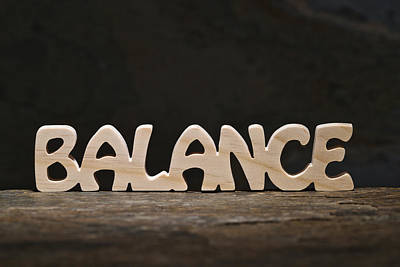 Balance Poster by Donald  Erickson
