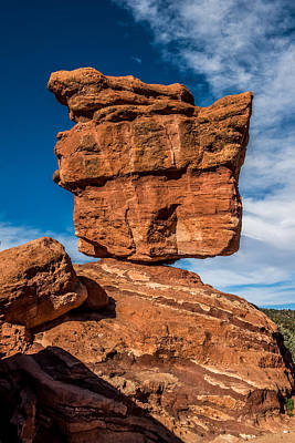 Balanced Rock Garden Of The Gods Poster by Paul Freidlund