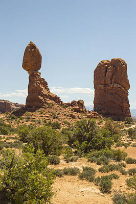 Balancing Rock In Arches Poster