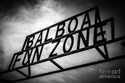 Balboa Fun Zone Sign Picture Newport Beach Poster