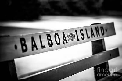 Balboa Island Bench In Newport Beach California Poster by Paul Velgos
