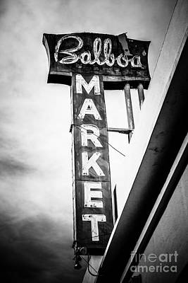 Balboa Market Sign Orange County California Photo Poster by Paul Velgos