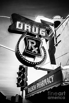 Balboa Pharmacy Drug Store Orange County Photo Poster by Paul Velgos