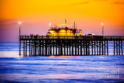 Balboa Pier At Sunset Picture Poster by Paul Velgos