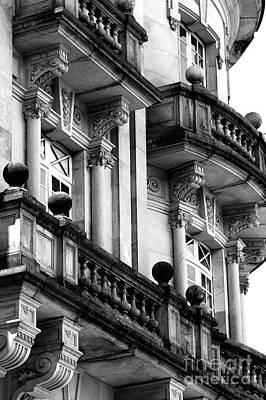 Balconies In Bogota Poster by John Rizzuto