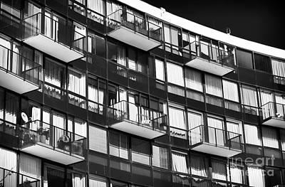 Balconies In Vina Del Mar Poster by John Rizzuto