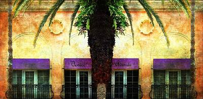 Balconies Of Venice Ave Poster by Barbara Chichester