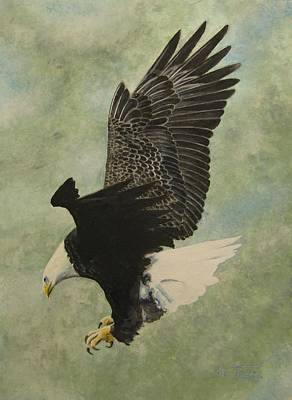 Poster featuring the painting Bald Eagle by Stan Tenney