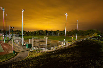 Ball Field At Night Poster