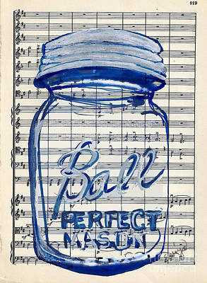 Poster featuring the painting Ball Jar Classical #119 by Ecinja Art Works