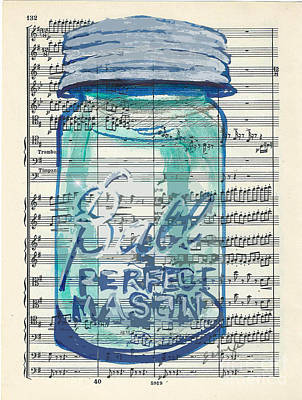 Poster featuring the painting Ball Jar Classical  #132 by Ecinja Art Works