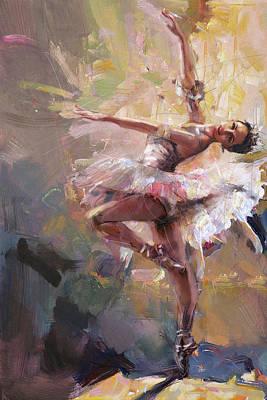 Ballerina 40 Poster by Mahnoor Shah