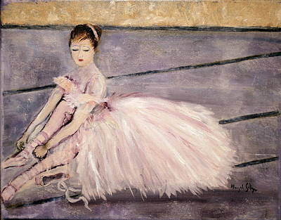 Poster featuring the painting Ballerina by Aleezah Selinger
