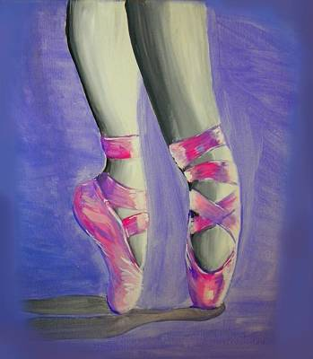 Ballerina Shoes Poster by Marisela Mungia