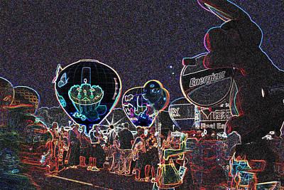 Balloon Glow - Neon Poster