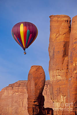Balloon In Monument Valley Poster by Brian Jannsen