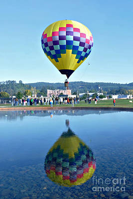 Poster featuring the photograph Balloon Ride  by Mindy Bench